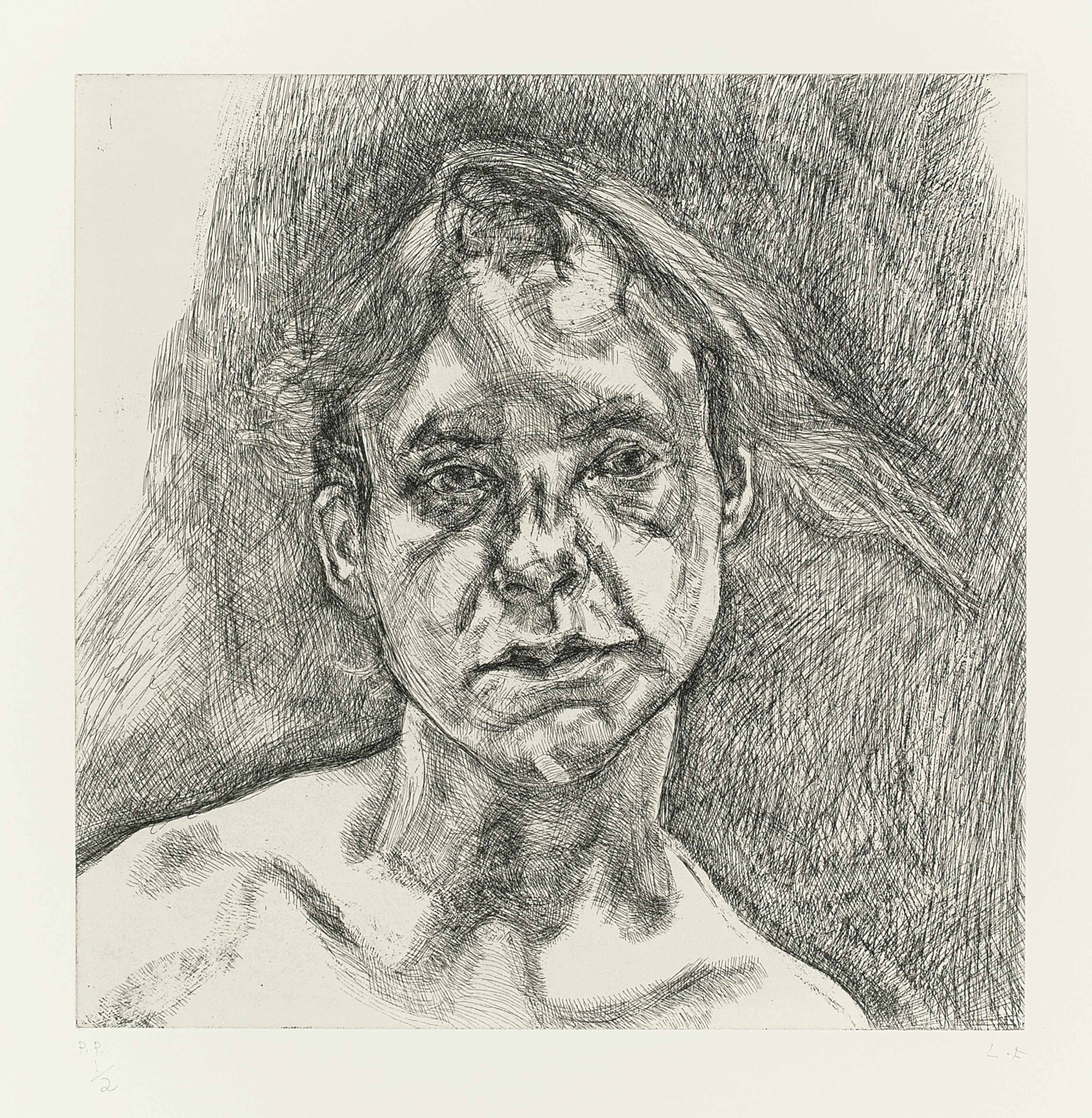 lucian freud drawing