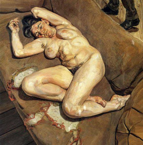 Nakenporträtt med eftertanke, 1980
