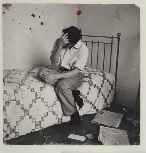 Lucian Freud on Bed, c.1964