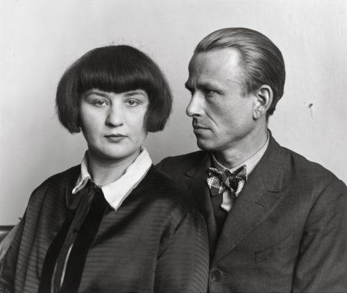 Konstnären Otto Dix och frun Martha, 1925
