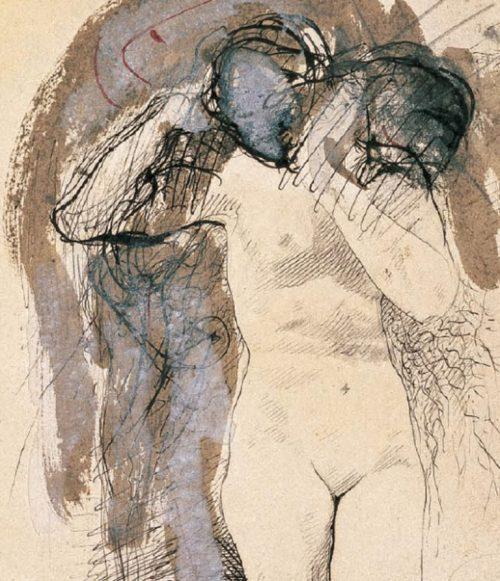 femme-nue-avec-tecc82te-sur-son-ecc81paule