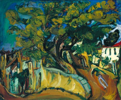 Landskap i Cannes med träd, ca 1925-26