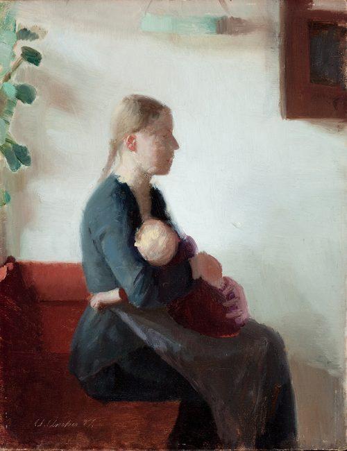Ung mor med barn