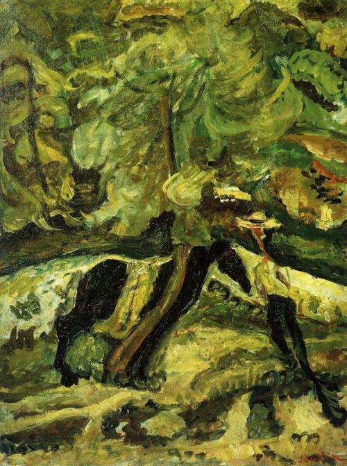 Man med häst, ca 1920