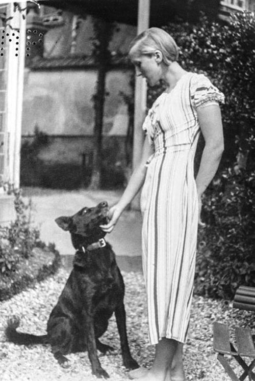 marie-therese with dog