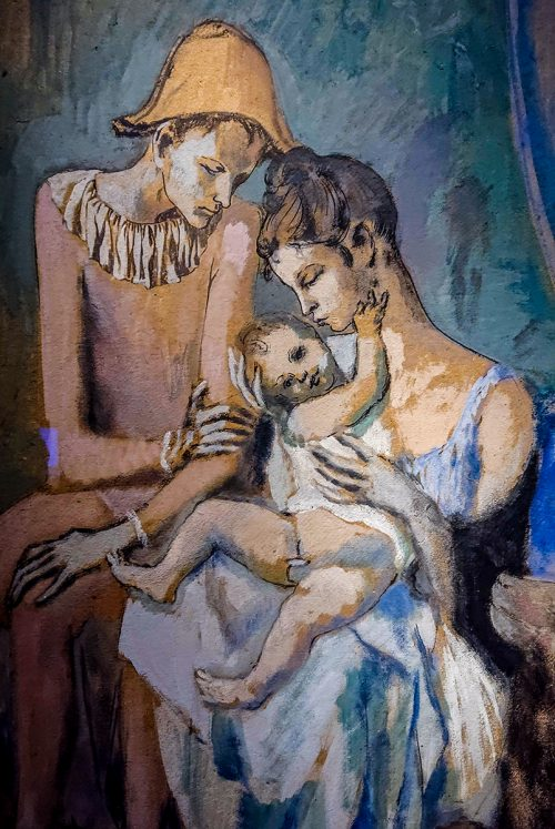 Picasso: Akrobatfamilj (detalj), 1905.
