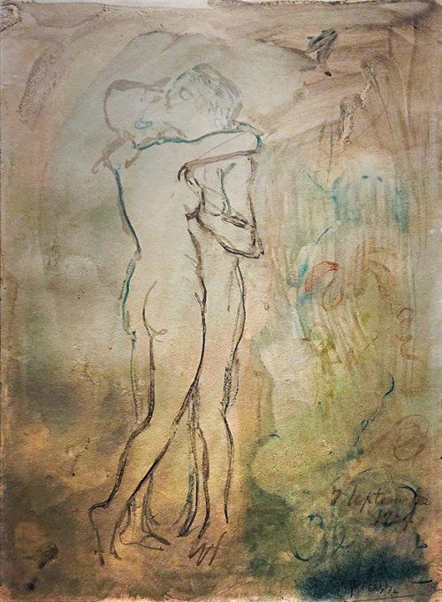 Picasso: Kyssen, 1904.