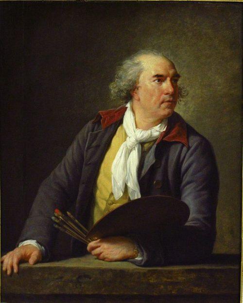 Porträtt av konstnären Hubert Robert, 1788.