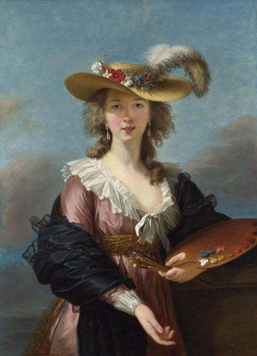 Élisabeth Vigée-Lebrun: Självporträtt med stråhatt, 1782