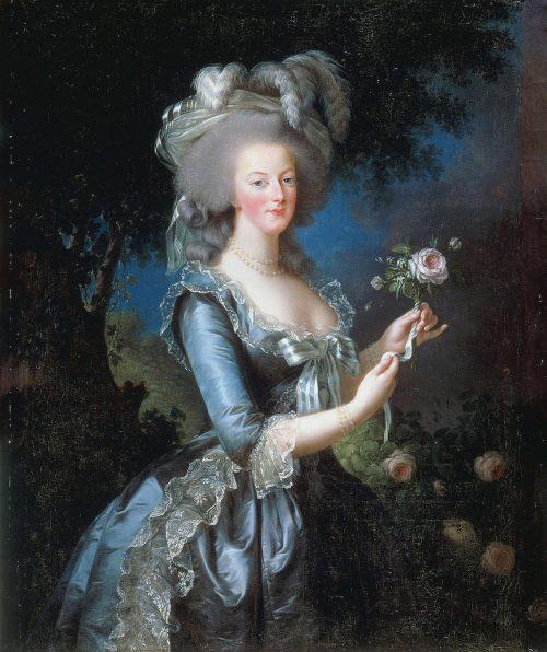 Marie Antoinette med ros.