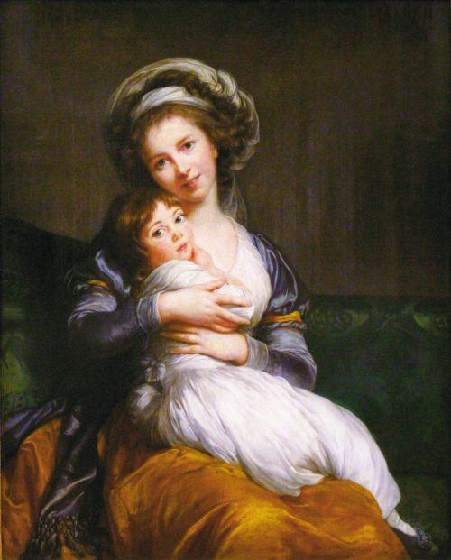 Självporträtt med dottern Julie.