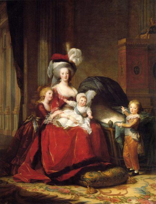 Marie Antoinette med sina barn, 1787.
