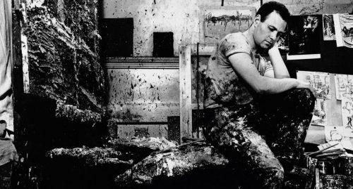Frank Auerbach i ateljén.