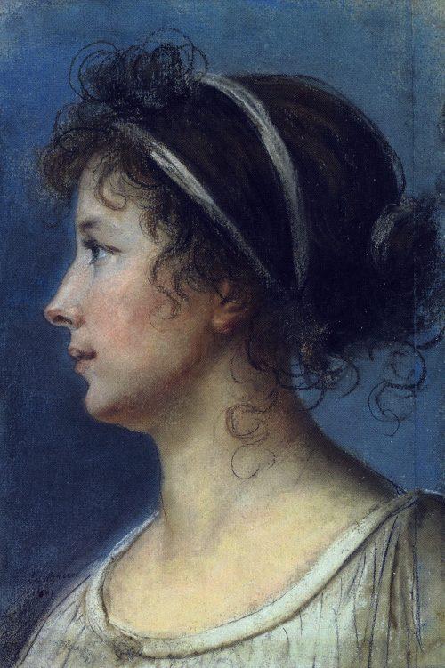Självporträtt i profil, 1801.