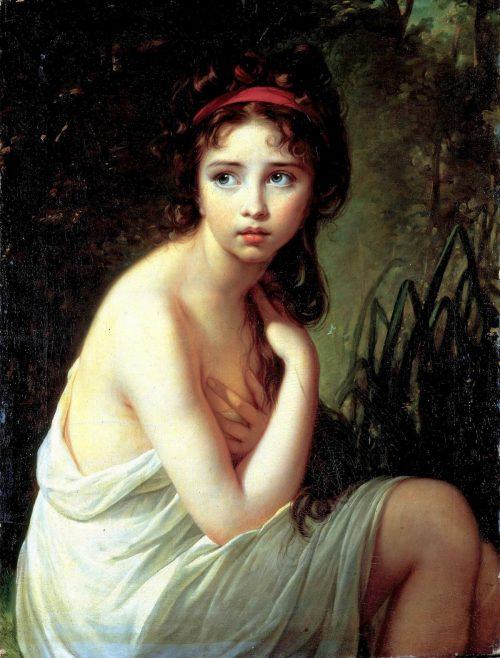 Baderskan (porträtt av dottern Julie), 1792.