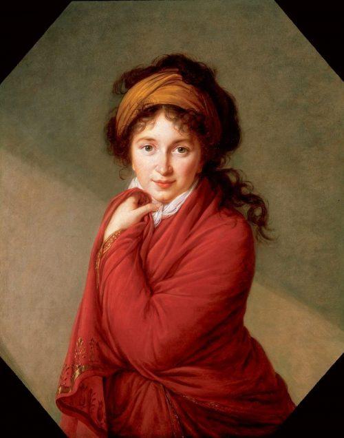 Porträtt av Varvara_Golovina, 1797-1800.