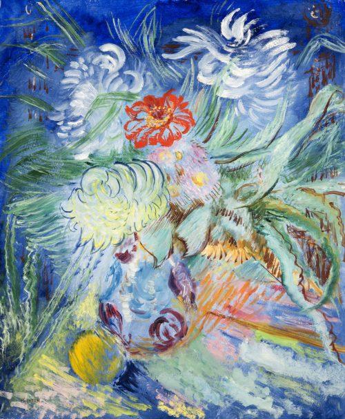 Blommor i blått,1934.