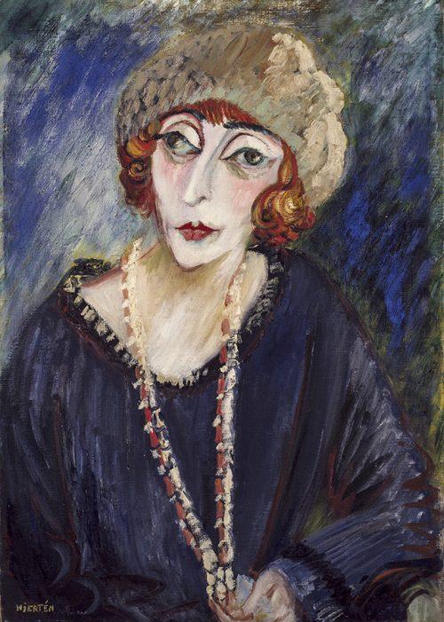 Porträtt av Hermine David, 1922.