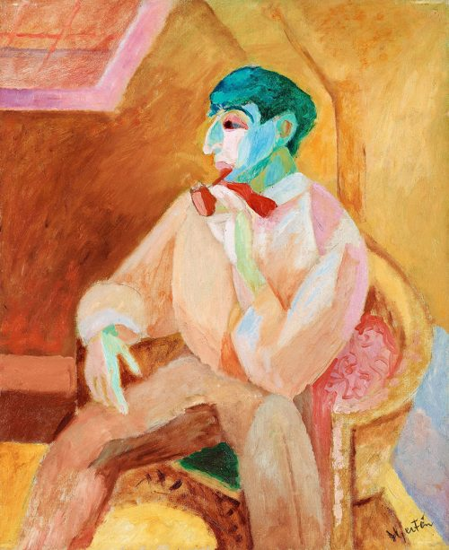 Isaac med pipa, 1911.
